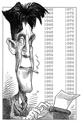 ['George Orwell' - Drawing by Taylor Jones]